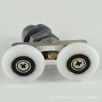 Rouleau de porte à douche à double roue de 25 mm de haute qualité.