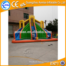 Tobogán inflable al aire libre de la piscina, tobogán inflable gigante para el adulto, diapositiva inflable del PVC