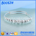 925 Sterling Silver Adjustable Wire Bangle