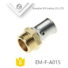 EM-F-A015 Rosca macho y adaptador de conexión de latón de compresión