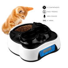 Pet Food Dispenser with Voice Recording and Timer