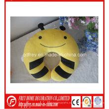 Lindo juguete de felpa de almohada de cuello de abeja suave