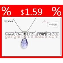 Pingente personalizado de prata colar 2013