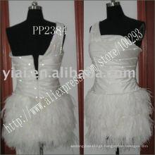 2011 fabricação de envio de gota de alta qualidade prateleira sexy com um vestido de cocktail de ombro PP2384