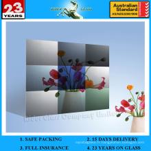 3-6mm Am-77 décoratif acide dépoli miroir architectural d'art givré / miroir rétro-éclairé