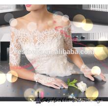 Una línea de estilo de moda appliqued strapless vestidos de novia de baile