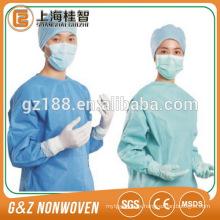 estéril desechable PP / SMS spunbond no tejido sms bata quirúrgica