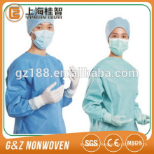 sterile disposable PP / SMS spunbond non woven sms surgical gown