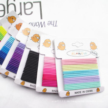 20 Stück Karte verpackt gemischte Farben nahtlose elastische Haarbänder (JE1502-1)