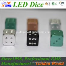 MCU contrôle coloré LED alliage d'aluminium dés