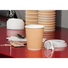 Tasse en papier ondulé jetable