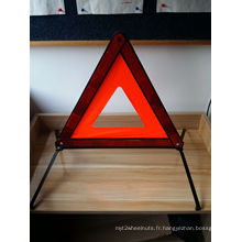 Sécurité routière Red White Plastic Emergency Warning Triangle Stand