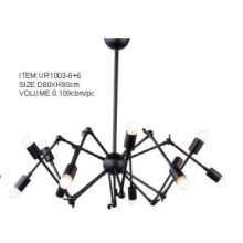 Indoor Black Metal Pendant Lighting (UR1003-6+6)