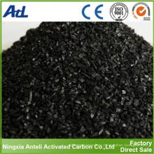Carbón activado basado en Shell de coco para la purificación del oro