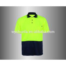 Hi Viz Shirt Camiseta de seguridad con bolsillo en el pecho