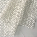 White Geometry Sunflower Chemical Lace Embroidery Fabric