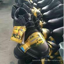 Low Price Stock Work Chaussures Chaussures de sécurité en cuir