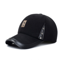 Solid Genuine Leather Baseball Cap