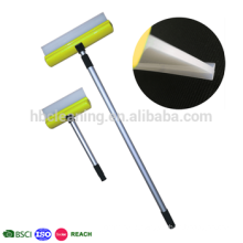 universal silicone wiper blade, telescoping long handled window wiper