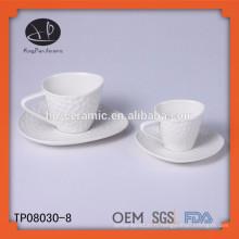 Belle tasse à café en céramique et soucoupe, tasse à thé en céramique et soucoupe