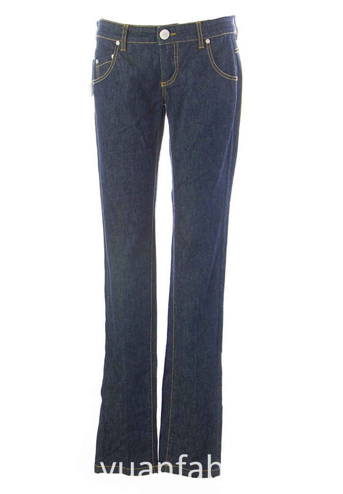 544women Jeans Trousers Skinny Straight Cotton Blend