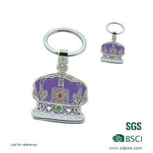 2016 porte-clés en métal personnalisé émail couronne pour la promotion