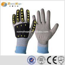 sunnyhope high TPR impact gloves mechanic work gloves cutting resistant gloves