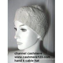 Cashmere Hand Knit Hat Ty0916