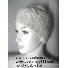 Cashmere Knit Hat mão Ty0916