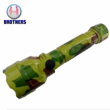 2AA Battery Plastic LED Torch