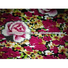 printed spun rayon fabric for women garment