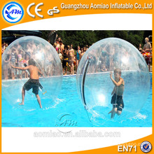 Outdoor water absorbing balls inflatable water smash rolling ball/water ball