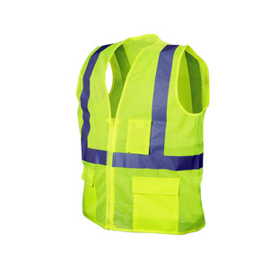 Yellow Safety Vest with Pockets and Cheap Reflective Vest