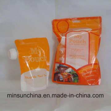 Ziplock bolsa de aluminio para envases de alimentos