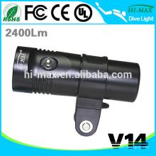 Hi-max V14 Équipement de plongée sous-marine pour la lumière de la caméra vidéo de la lampe de plongée