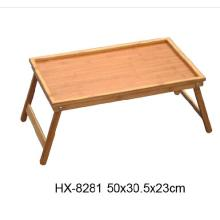 Bamboo Serving Tray For Bed  with Foldable Legs