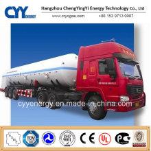 New China LNG oxygène liquide à l'azote Argon Dioxyde de carbone Tank Car Semi Semi-remorque