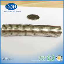 N42 5/8′′ Dia. X 1/16′′ Thick Neodymium Magnet for Electronic Component