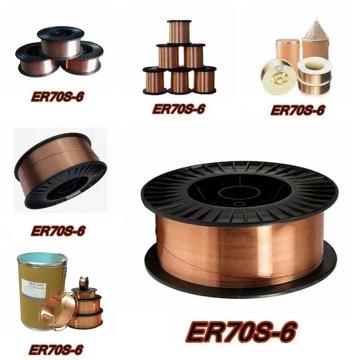 Aws Er70s-6 Gas Shielded Welding Wire Diam 0.8/1.0/1.2/1.6mm