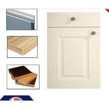 Portas do armário de cozinha do MDF do PVC com punho e borda Banding (zhuv)