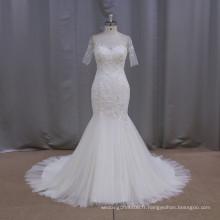 Robe de mariée en dentelle en dentelle en tulle et mariée de 12 constellations