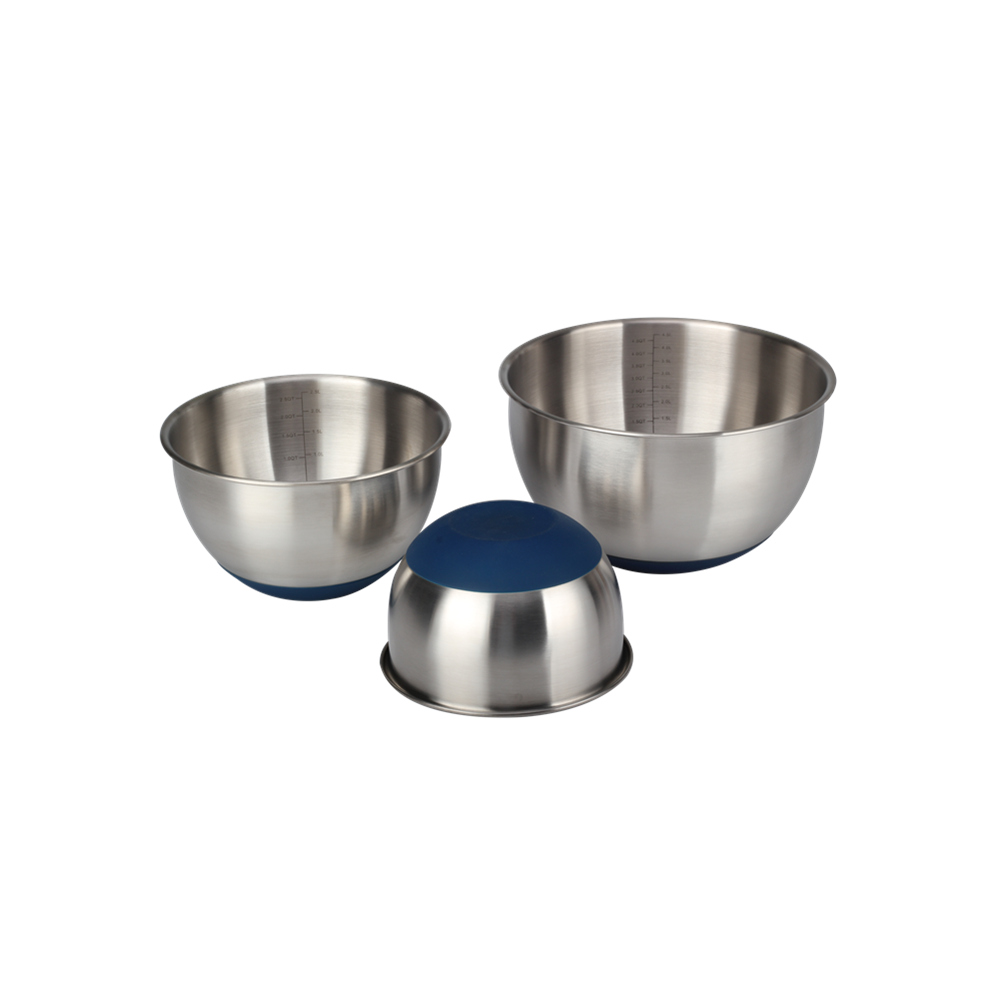 Silicone Bottom Mixing Bowl Set