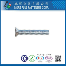 Maker in Taiwan DIN963 M5x16 Stainless Steel 304 Slot Drive Countersunk Head Machine Screw