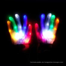 Finger führte Handschuhe