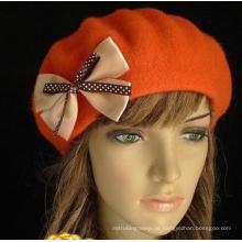 Mode Winter Bowknot Outdoor Wolle Hüte für Dame