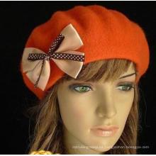 Forme a invierno los sombreros al aire libre de la lana del Bowknot para la señora