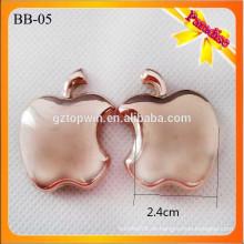 BB05 Beliebte Gold Metall Stiefel Schnalle Form Schuhschnallen mit Pin