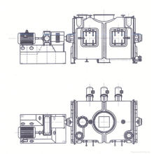 2017 LDH-Serie Coulter Typ Mischmaschine, SS Ribon Mischer, horizontale Labor Pulver Mixer