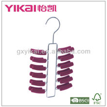 EVA foam coated metal tie hanger with 24 racks