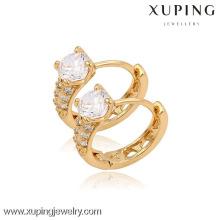 (90098) Xuping moda alta qualidade 18k banhado a ouro brinco